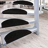 Floordirekt Stufenmatten Treppenmatten Shaggy - Venus Halbrund 10 Aktuelle Farben SparSet 15 Stck. (schwarz) - 2