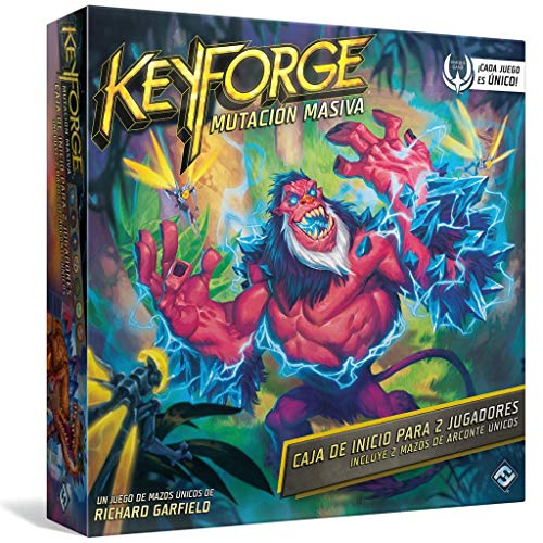 Juego de Cartas - KeyForge Mutación Masiva Caja de Inicio Adéntrate en un Mundo en el Que Todo es Posible