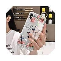 ローズフラワーフローラルリストストラップFor iPhoneケース1211 Pro MAX X XR XS MAX 7 8 Plus 66SハンドバンドソフトTPUシリコンカバー-Flower 340-for iphone 11
