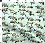Nashorn, Wabenmuster, Geometrisch, Safari, Zoo, Kinder,