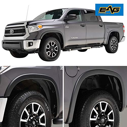 EAG Fender Flares Satin Black Styline Series Fit for 14-17 Tundra