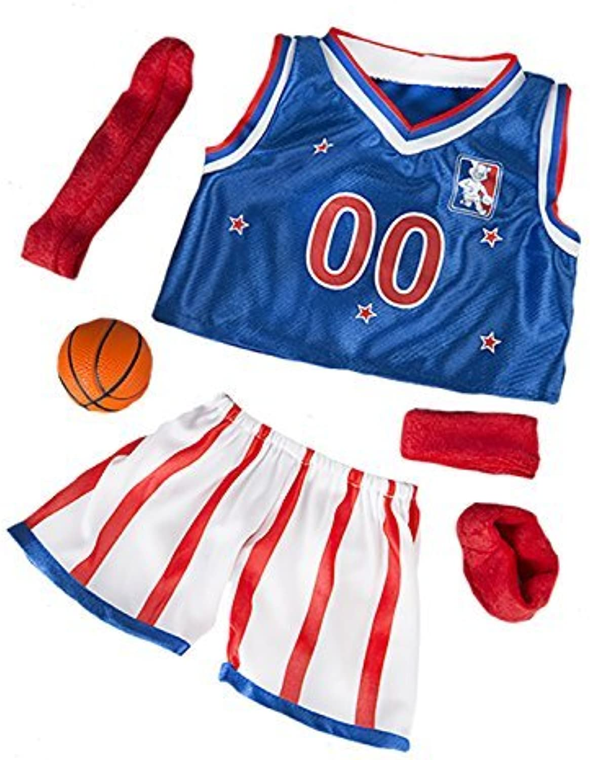All Star Basketball Uniform Fits Most 14  18 Buildabear, Vermont Teddy Bears, and Make Your Own Stuffed Animals by Stuffems Toy Shop