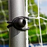 FORZA High Stretch Elastic Bungee Net Ties [40 Pack]   Bungee Cords with Hooks   Elastic Cord for Sports Equipment   Bungee Ball Ties for Camping, Tarpaulin, Gazebo & More