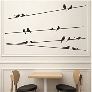 Wall Sticker Branch Bird Cage Wall Stickers Removable Living Room Decals Parlor Window Kids Bedroom Home Decor 33X58Cm