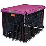 Pet Progressions by K&H 30 Inch Dog Crate Cover, Navy - Tear Resistant Dog Kennel Covers