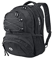 travelite hand luggage backpack for travel, leisure and sport, luggage series BASICS Daypack: functional backpack, 096245-01, 41 cm, 22 liters, black