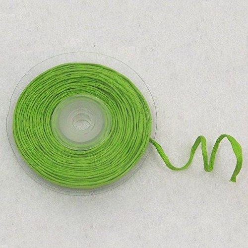 Generique - Rouleau de Raphia avec Fil métallique Vert 10 m