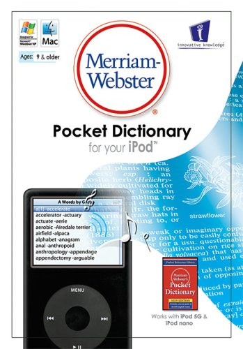 Merriam-Webster's Pocket Dictionary (for the iPod)
