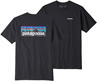 Patagonia P6 Logo Responsibilitee Short Sleeve T-Shirt Medium Black
