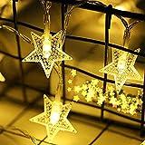 Lichterkette Sterne, Se-Mirrorworld LED Lichterketten USB 3m 20 LEDs Warmweiße Sternen, Blinken, für Kinderzimmer, Balkon, Geburtstag, Wand, Weihnachten, Dekoration [Energieklasse A+++] - 3