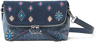 Desigual Womens BOLS_July TRIBU VEN Across Body Bag, Blue, One Size