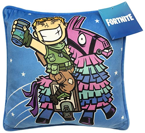 Fortnite Decorative Pillow Cover - Featuring Ranger and Llama - Kids Super Soft 1-Pack Throw Pillow Cover - Measures 15 Inches x 15 Inches (Official Fortnite Product)