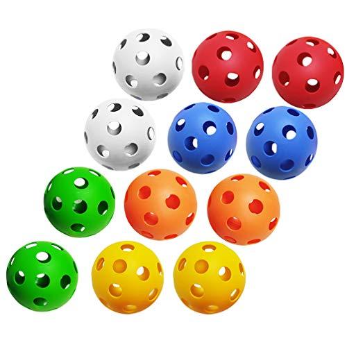 BESPORTBLE 30 Stück Golfbälle Kunststoff Hohltrainingsübungsbälle Golf-Trainingshilfen für Driving Range Swing-Übungen im Innen- Und Außenbereich