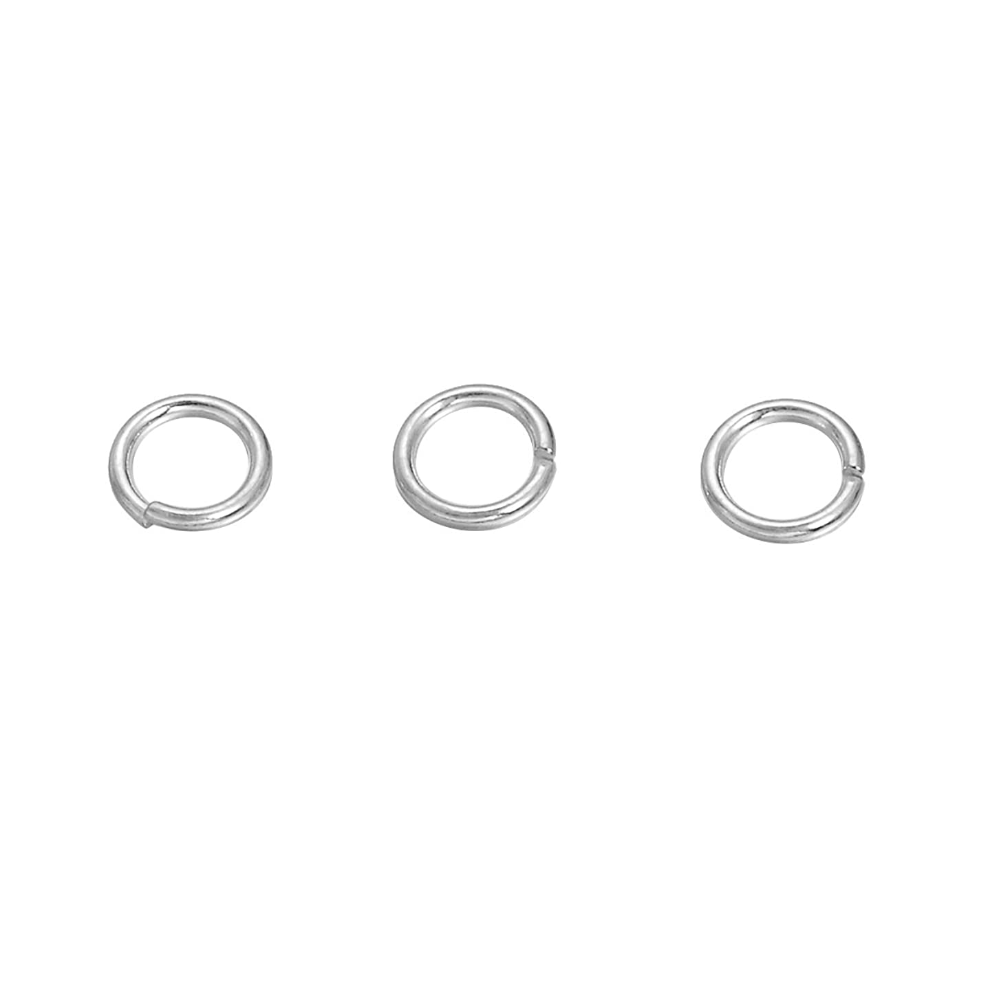 VALYRIA 50pcs Sterling Silver Open Jump Rings for Jewelry Making Findings,5mmx0.5mm