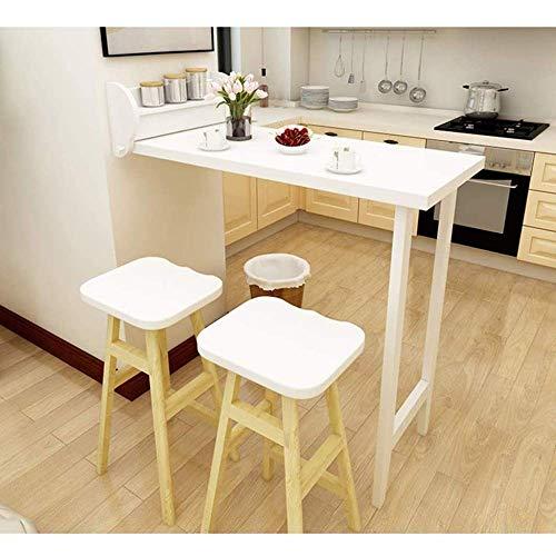 Mesa Plegable de Pared Mesa de Bar Plegable de Madera Maciza, Mesa de Comedor multifunción para el Ocio, complemento Sala de Estar/Cocina, A, hogar/Oficina