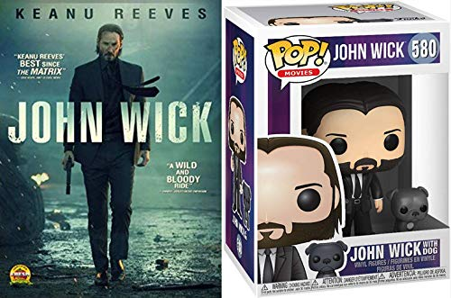 Why Didn't You Guys Just Leave His Dog Alone?: John WIck DVD + Funko POP! Movies: John Black Suit w/ Dog # 580