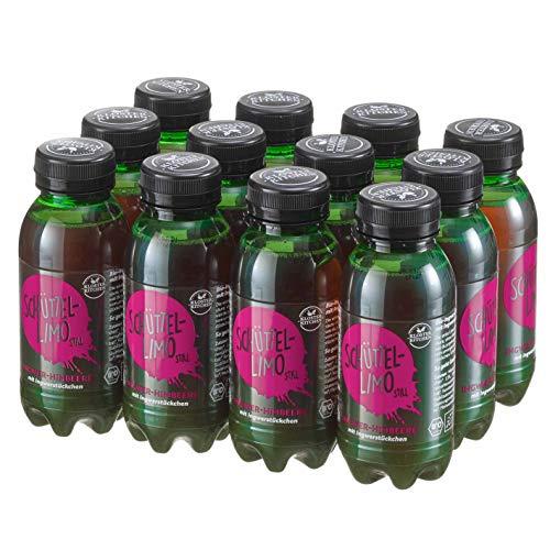 12er Pack Kloster Kitchen Bio Schüttel-Limo Ingwer Himbeere, Frische Kick ohne Kohlensäure, mit Ingwerstückchen, 12x 250ml in EINWEG PET Flasche, vegan (Himbeere, 12er Pack)
