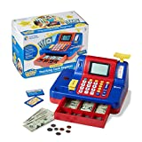 Learning Resources Pretend & Play Teaching Cash Register, Talking Register, Counting Activities, Money Management, 73...
