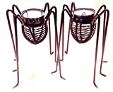 """2 Set Spider TEALIGHT Candle Holder Halloween Black Widow Votive 6.5"""" Tall New-Candle Holders-Candle Holders Set-Candles for Candle Holder-Candlestick Sets-Candles Holders Set-Candlestick"""