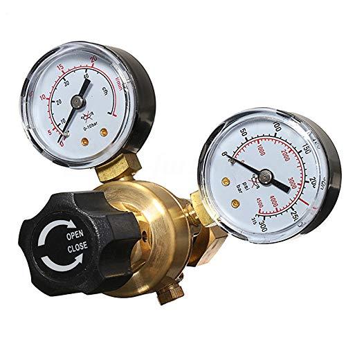 Regulador de botella de gas CO2 Argon Mig Tig Regulador de soldadura 0-315 bar