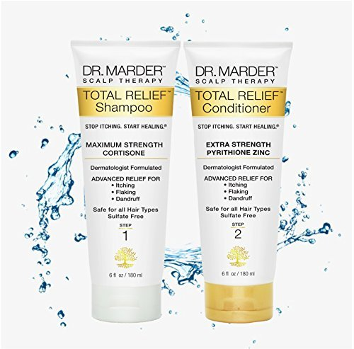 Total Relief Dermatologist Formulated A-D Anti-Dandruff Shampoo & Zinc Pyrithione Conditioner - 2 Pack Set for Men - Stop Hair Loss + Hair Growth - Treat Psoriasis Flakes Sc