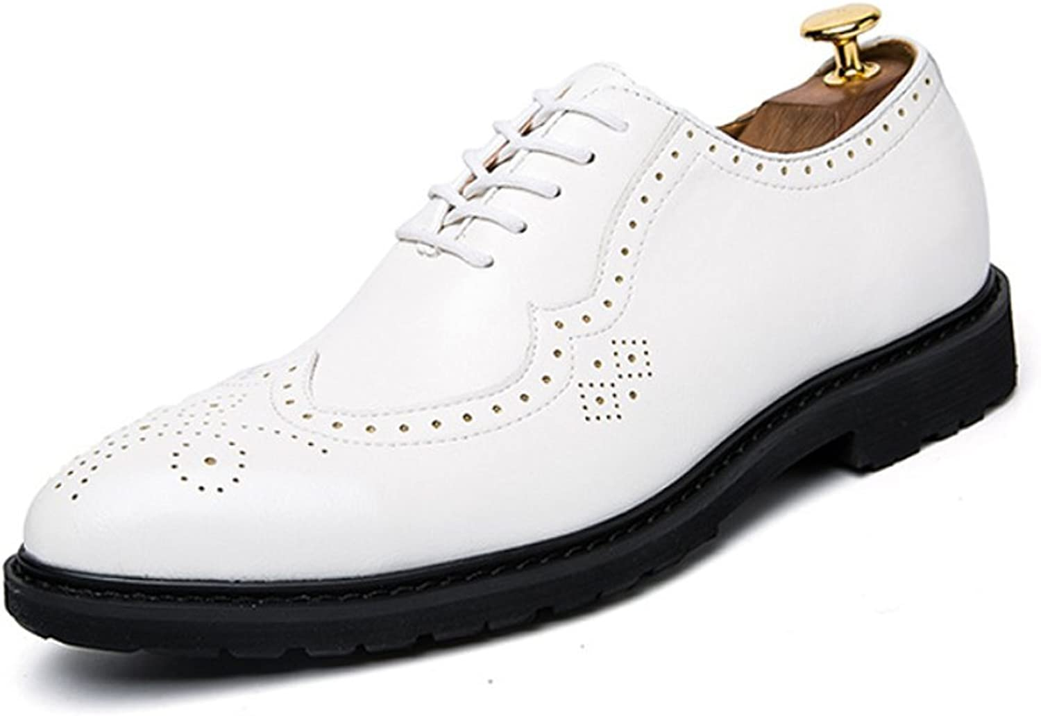 LYZGF Men Youth Business Casual Fashion Wedding Brock Leather shoes