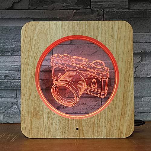 BFMBCHDJ Canno Kamera Foto 3D LED ABS Kunststoff Nachtlicht DIY Maßgeschneiderte Lampe Tischlampe Kinder Farben Geschenk Wohnkultur