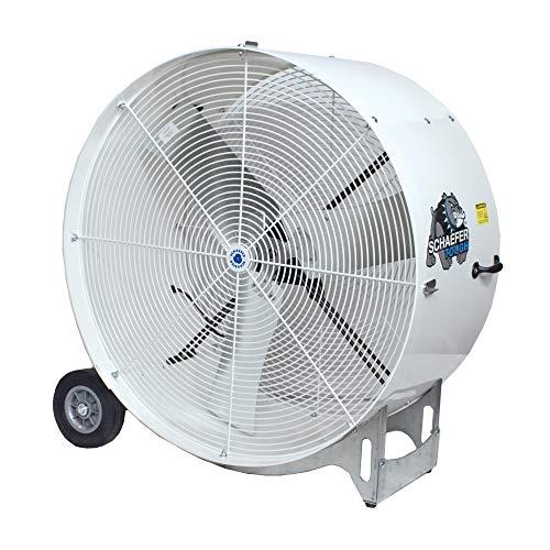 Buy Bargain Schaefer VKM36-O 36″ Versa-Kool Mobile Spot Cooler Portable Drum Fan with OSHA-Guard, Made in USA, High Airflow, 1/2 HP, 11020CFM, White