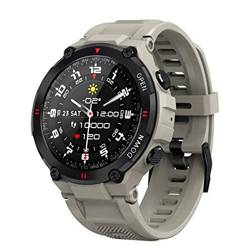 YDK 2021 Nuevo K22 Smart Watch Men's Sports Fitness Bluetooth Call Multi-Function Control Music Reloj de Alarma Recordatorio El teléfono Inteligente es Adecuado para iOS y Android,A