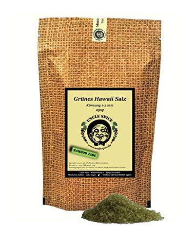 Uncle Spice Hawaii Salz grün - 250g grünes Hawaiisalz - Premiumqualität - grünes Meersalz aus Hawaii - Gourmetsalz - Bamboo Jade Salt - Perfekt als Geschenk und zur Dekoration