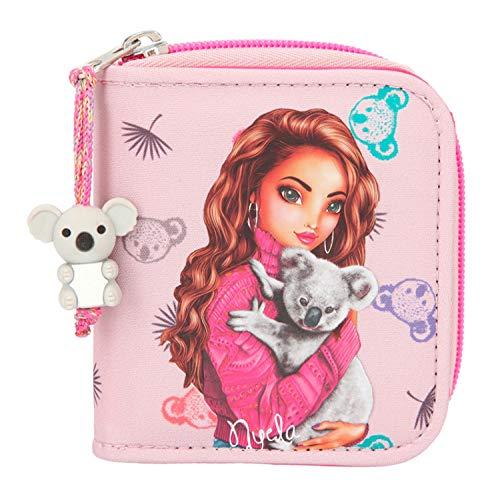 Depesche 11077 Portemonnaie für Mädchen im TOPModel Koala Design in rosa, ca. 12 x 10 x 3 cm groß, mit Fächer für Münzen, Scheine und Karten