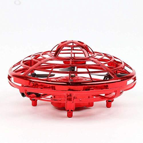ZAGO Fernbedienung Flugzeug Mini-LED-Drone Quad Hand RC Flugzeuge Induction Levitation UFO Fliegen-Kugel-Spielwaren Für Erwachsene und Kinder (Color : Red, Size : Ones)