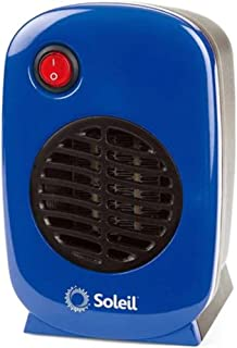 Personal, Portable Electric Ceramic Space Heater, 250 Watt MH-01 (Blue)