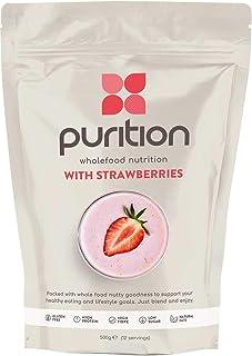 Purition Batido de proteínas de Fresa (500g). Batido para