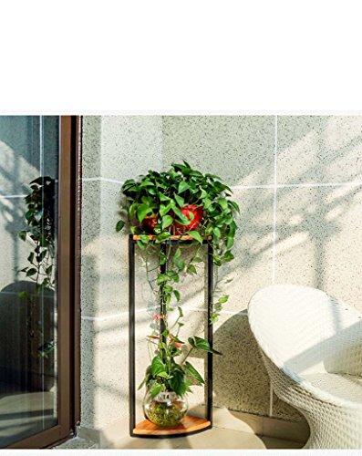 FZN Américain Bois étage Salon Balcon siège de Fleur de Style européen Coin siège escalier en Fleur Multicouche étagère Pots de Fleurs (Taille : 30 * 30 * 78cm)
