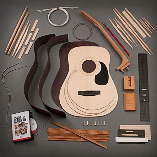 StewMac Build Your Own Dreadnought Acoustic Guitar Kit with Bolt-on Neck, Sitka Top, Indian Rosewood Back & Sides