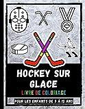 Hockey Sur Glace Livre De Coloriage Pour Les Enfants De 5 à 12 Ans: Livre De Coloriage Pour Enfants Sur Le Sport De Hockey Sur Glace, Casque De Couleur, Rondelle, Patins à Glace Et Plus