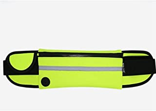 YWSCXMY-AU Waterproof Sport Runner Waist Bum Bag Running Jogging Belt Pouch Zip Fanny Pack (Color : Green)
