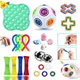 Sensory Fidget Toys Set, Autism Needs Stress Reliever Anxiety Relief Toys, Special Toys Assortment for Birthday Party Favors, School Classroom Rewards, Carnival Prizes, Goodie Bag Fillers (22 Pack)