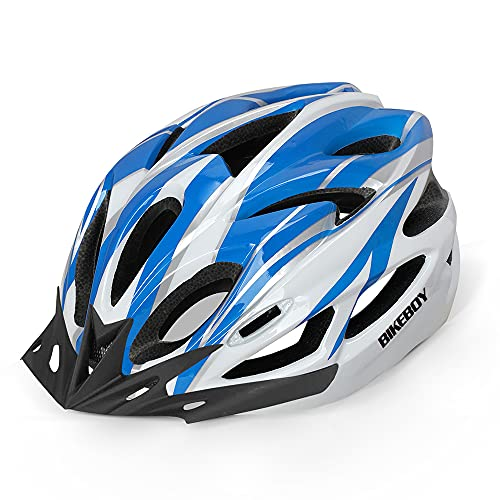 BIKEBOY Adult Bike Helmet, with Removable Visor, Lightweight and Breathable, 56-61 cm Adjustable Size Adult Bicycle Helmets, for Mens Womens Mountain Cycling Helmet