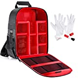 Neewer Backpack for Shockproof Waterproof Camera 30x14x37 cm Compatible with Tripod and Cleaning Kit for DSLR, Mirrorless Camera, Flash, Lenses and Other Accessories