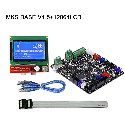 lzndeal impresora 3d parte MKS Base V1.5tarjeta madre + 12864Kit de tarjeta de control pantalla LCD para rampe1.4