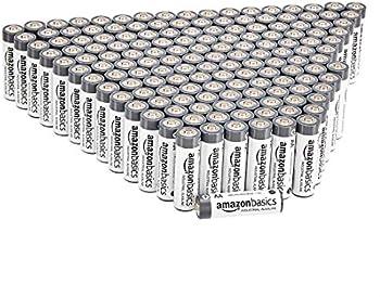 250-Pack Amazon Basics AA Industrial Alkaline Batteries (5-Year Shelf Life)