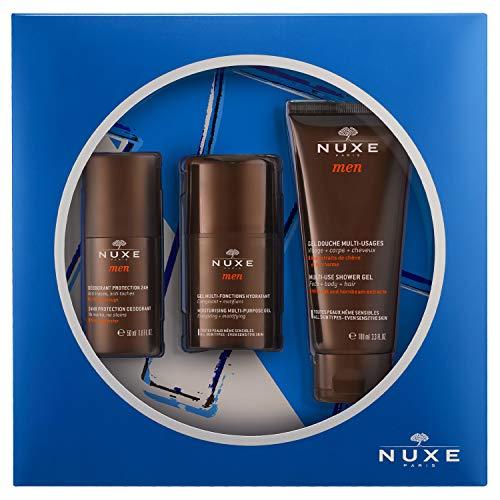 Nuxe men gel hidratacion 50ml+ desodorante 50ml + gel ducha 100ml