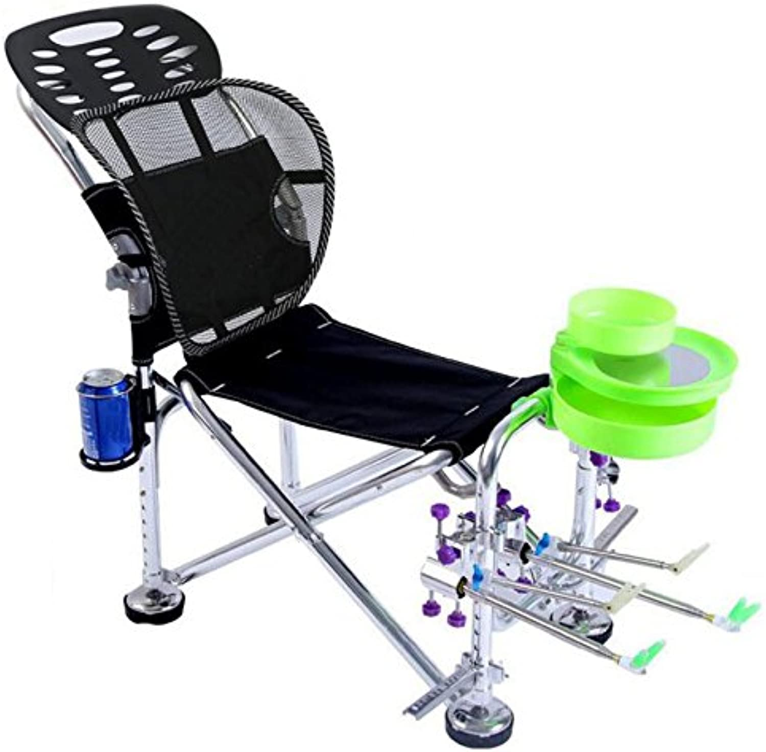 Fishing Recliner Fishing Chair Outdoor Multifunctional Fishing Chair Aluminum Alloy Material Wild Fishing Special. (color   A)