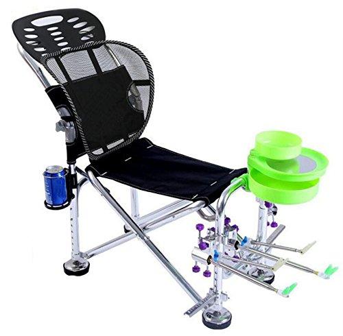 JSHFD Angelliege Angeln Stuhl Outdoor multifunktionale Angeln Stuhl Aluminiumlegierung Material Wild Angeln speziell. (Farbe : B)