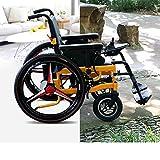 AA100 Silla de Ruedas eléctrica Plegable Inteligente Empuje Manual/eléctrico (batería de Iones de Litio) Ancianos discapacitados Cuidado Silla de Ruedas eléctrica