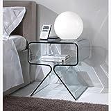 Mobiletto letto comodino in vetro - RELAX