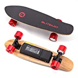 Blitzart Mini Flash 28' Electric Skateboard Electronic Hub-Motor 2.8' Wheel E-Skateboard (RED)