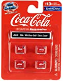 1950's-1960's Coca-Cola Chest Coolers 4 Piece Accessory Set for 1/87 (HO) Scale Models by Classic Metal Works 20249